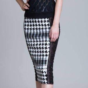 Byron Lars Sequin Skirt